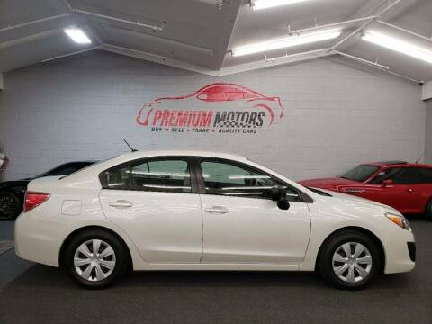 2012 Subaru Impreza for sale at Premium Motors in Villa Park IL