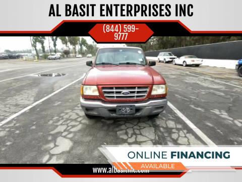 2003 Ford Ranger for sale at AL BASIT ENTERPRISES INC in Riverside CA