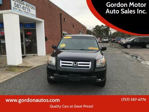 2007 Honda Pilot for sale at Gordon Motor Auto Sales Inc. in Norfolk VA