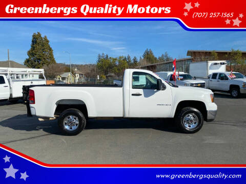 2009 GMC Sierra 2500HD for sale at Greenbergs Quality Motors in Napa CA
