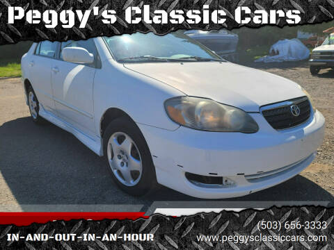2005 Toyota Corolla for sale at Peggy's Classic Cars in Oregon City OR