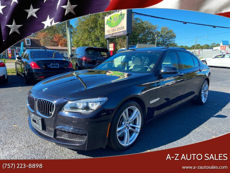 2013 BMW 7 Series for sale at A-Z Auto Sales in Newport News VA