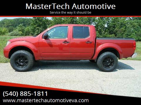 2014 Nissan Frontier for sale at MasterTech Automotive in Staunton VA