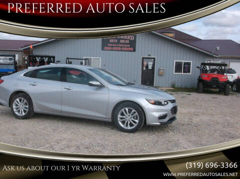 2018 Chevrolet Malibu for sale at PREFERRED AUTO SALES in Lockridge IA