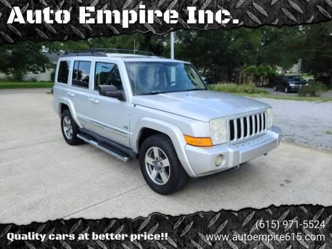2006 Jeep Commander for sale at Auto Empire Inc. in Murfreesboro TN