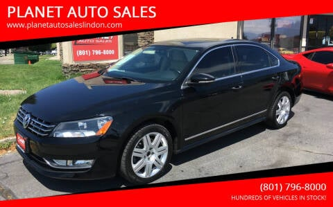 2012 Volkswagen Passat for sale at PLANET AUTO SALES in Lindon UT