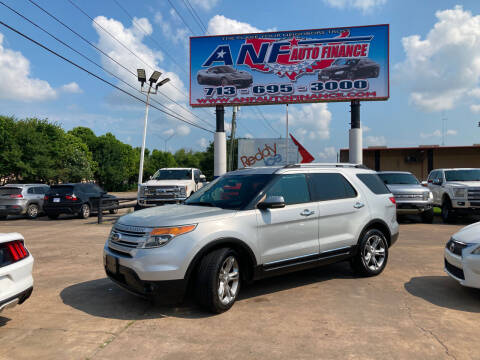 2013 Ford Explorer for sale at ANF AUTO FINANCE in Houston TX
