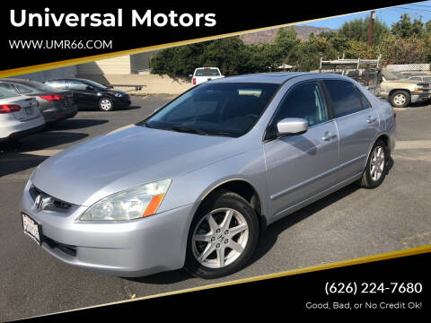 2004 Honda Accord for sale at Universal Motors in Glendora CA