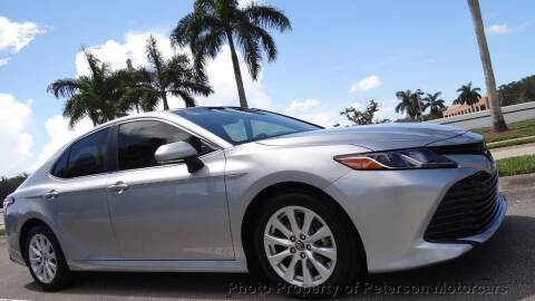 2018 Toyota Camry for sale at MOTORCARS in West Palm Beach FL