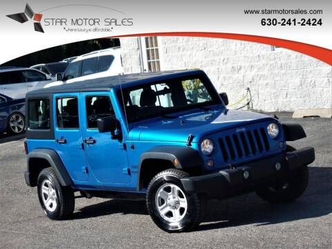 2016 Jeep Wrangler Unlimited for sale at Star Motor Sales in Downers Grove IL