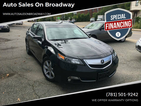 2012 Acura TL for sale at Auto Sales on Broadway in Norwood MA