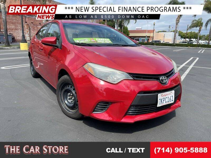 2015 Toyota Corolla for sale at The Car Store in Santa Ana CA