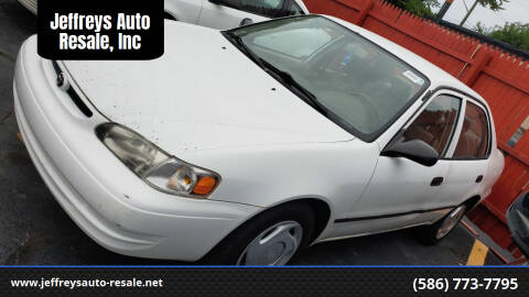 2000 Toyota Corolla for sale at Jeffreys Auto Resale, Inc in Clinton Township MI