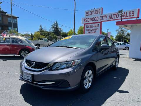 2015 Honda Civic for sale at Redwood City Auto Sales in Redwood City CA