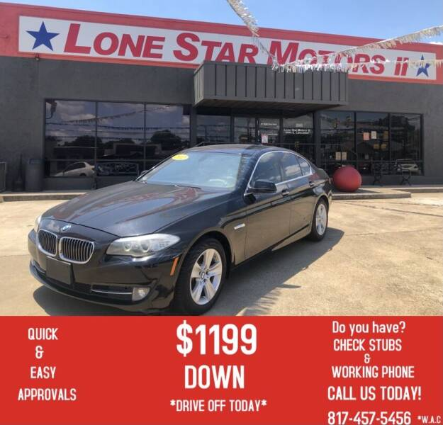 2012 BMW 5 Series for sale at LONE STAR MOTORS II in Fort Worth TX
