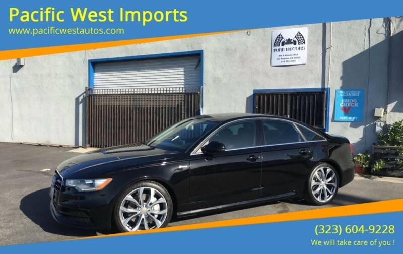 2012 Audi A6 for sale at Pacific West Imports in Los Angeles CA