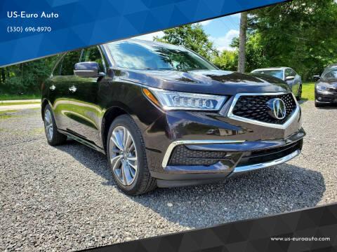 2017 Acura MDX for sale at US-Euro Auto in Burton OH