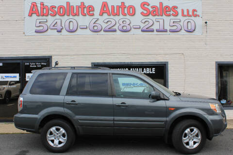 2008 Honda Pilot for sale at Absolute Auto Sales in Fredericksburg VA
