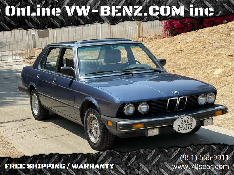 1983 BMW 5 Series for sale at OnLine VW-BENZ.COM Auto Group in Riverside CA