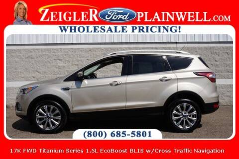 2017 Ford Escape for sale at Zeigler Ford of Plainwell- Jeff Bishop in Plainwell MI