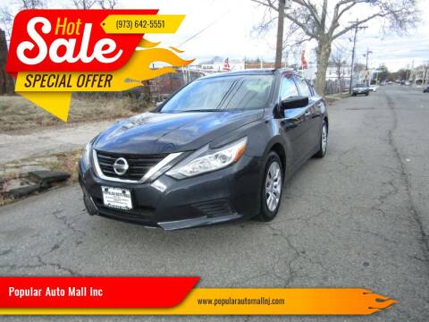 2017 Nissan Altima for sale at Popular Auto Mall Inc in Newark NJ