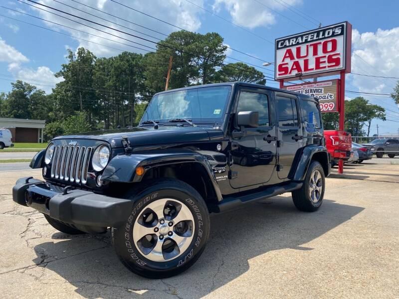 2016 Jeep Wrangler Unlimited for sale at Carafello's Auto Sales in Norfolk VA