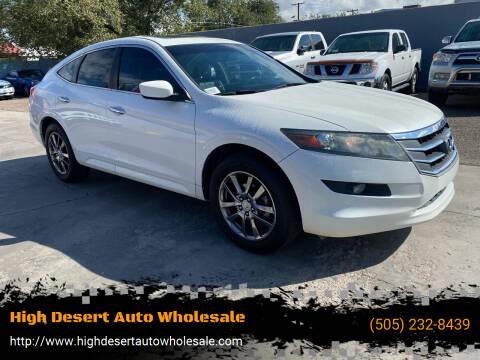 2012 Honda Crosstour for sale at High Desert Auto Wholesale in Albuquerque NM