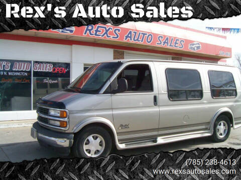 2002 Chevrolet Express Cargo for sale at Rex's Auto Sales in Junction City KS