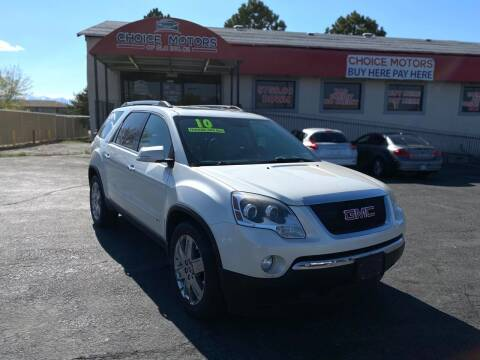 2010 GMC Acadia for sale at Choice Motors of Salt Lake City in West Valley  City UT