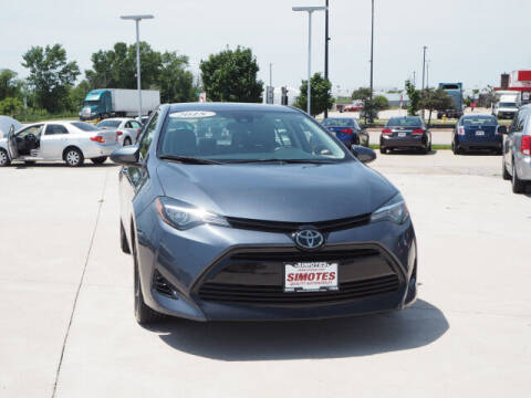 2018 Toyota Corolla for sale at SIMOTES MOTORS in Minooka IL