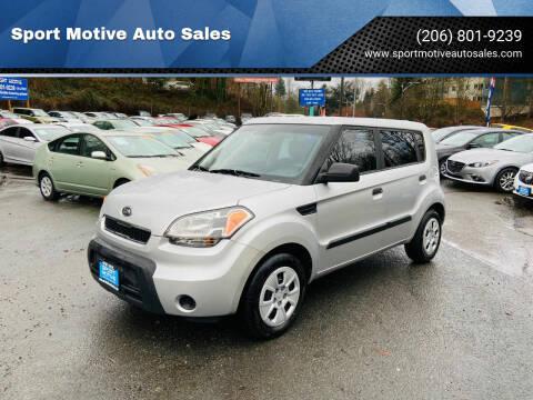 2010 Kia Soul for sale at Sport Motive Auto Sales in Seattle WA