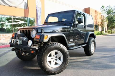 2003 Jeep Wrangler for sale at CK Motors in Murrieta CA