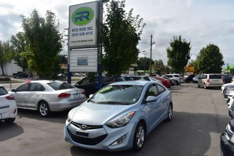 2013 Hyundai Elantra Coupe for sale at Rite Ride Inc in Murfreesboro TN