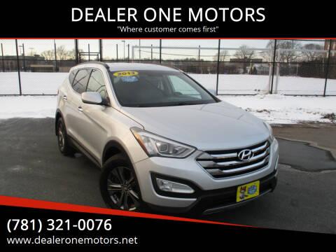 2013 Hyundai Santa Fe Sport for sale at DEALER ONE MOTORS in Malden MA