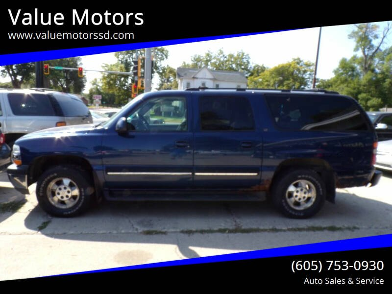 2001 Chevrolet Suburban for sale at Value Motors in Watertown SD