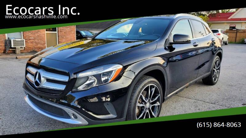 2017 Mercedes-Benz GLA for sale at Ecocars Inc. in Nashville TN