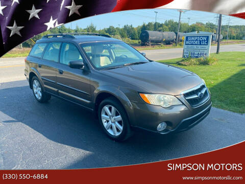 2008 Subaru Outback for sale at SIMPSON MOTORS in Youngstown OH