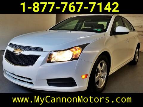 2012 Chevrolet Cruze for sale at Cannon Motors in Silverdale PA