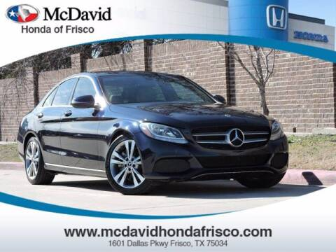 2018 Mercedes-Benz C-Class for sale at DAVID McDAVID HONDA OF IRVING in Irving TX