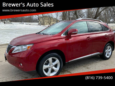 2012 Lexus RX 350 for sale at Brewer's Auto Sales in Greenwood MO