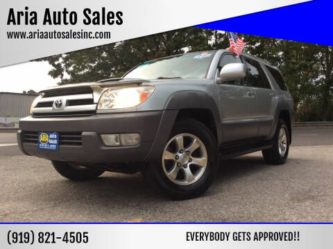 2003 Toyota 4Runner for sale at ARIA  AUTO  SALES in Raleigh NC