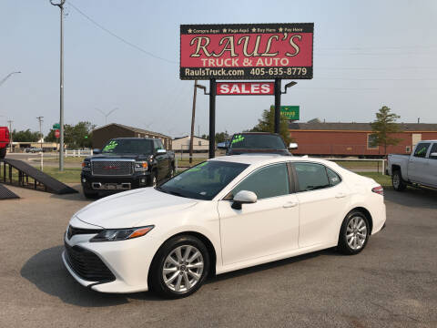 2019 Toyota Camry for sale at RAUL'S TRUCK & AUTO SALES, INC in Oklahoma City OK