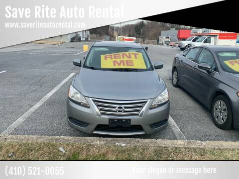 2013 Nissan Sentra for sale at Save Rite Auto Rental in Randallstown MD