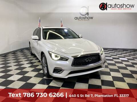 2018 Infiniti Q50 for sale at AUTOSHOW SALES & SERVICE in Plantation FL