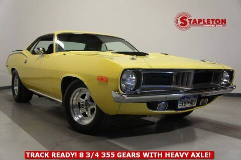 1972 Plymouth Barracuda for sale at STAPLETON MOTORS in Commerce City CO