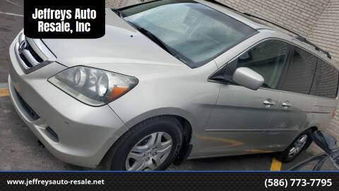 2007 Honda Odyssey for sale at Jeffreys Auto Resale, Inc in Clinton Township MI
