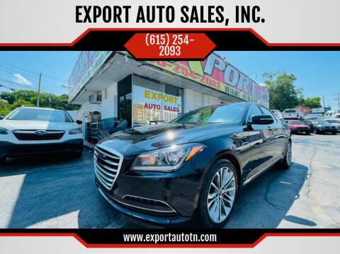 2015 Hyundai Genesis for sale at EXPORT AUTO SALES, INC. in Nashville TN