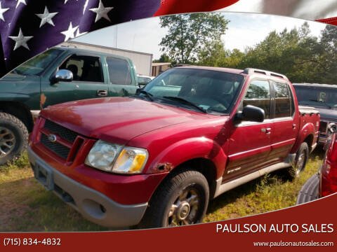 2002 Ford Explorer Sport Trac for sale at Paulson Auto Sales in Chippewa Falls WI