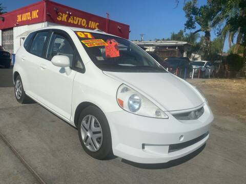 2007 Honda Fit for sale at 3K Auto in Escondido CA