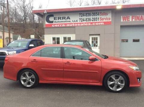 2012 Toyota Camry for sale at Cerra Automotive LLC in Greensburg PA